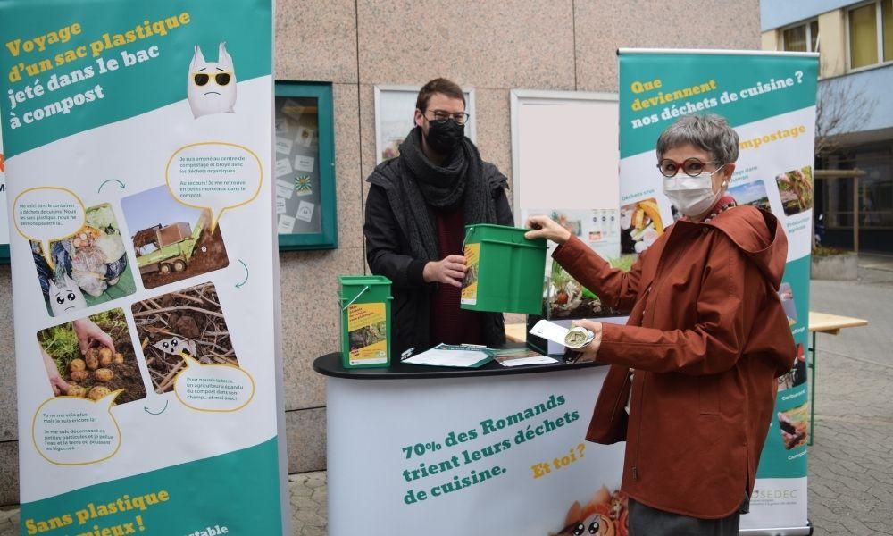 Un mois de sensibilisation au tri des déchets de cuisine à Orbe : le bilan est positif !